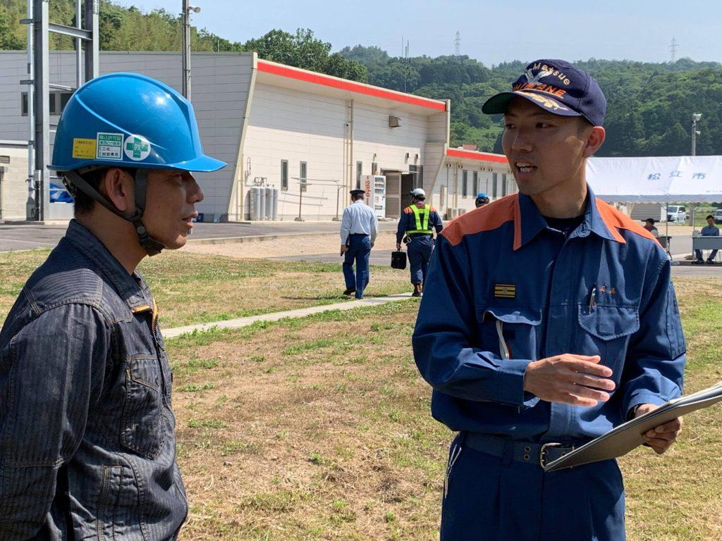 松江市北消防署の事故対応訓練に参加しました<br>~三光エナジーサービス~
