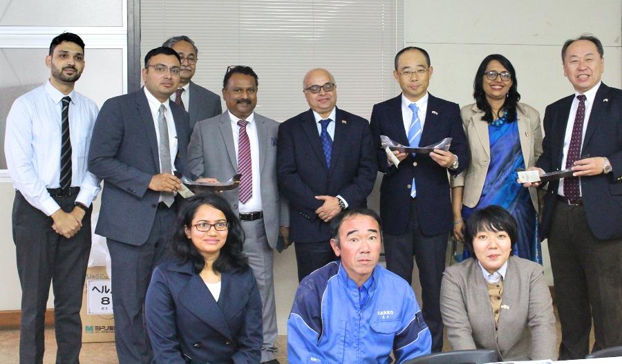 インド・ケララ州高官が三光江島工場を訪問されました